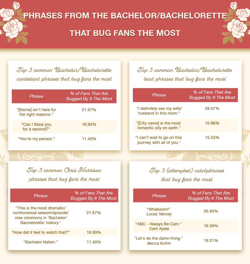 Phrases from The Bachelor/Bachelorette that Bug Fans the Most